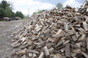 Split Firewood Pile