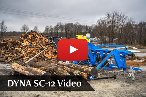 DYNA Firewood Processor SC-12 YouTube Video