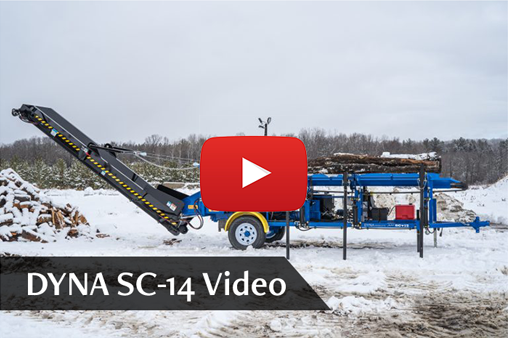 DYNA Firewood Processor SC-14 YouTube Video