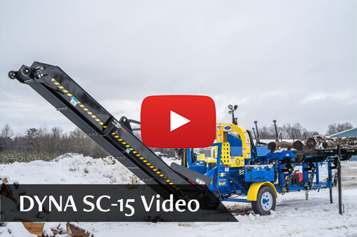 DYNA Firewood Processor SC-15 YouTube Video