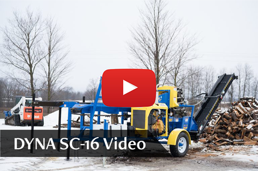 DYNA Firewood Processor SC-16 YouTube Video