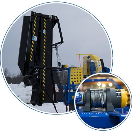 Powered Conveyor Winch option included on select models