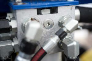 Image showing closeup of hoses and metal connectors