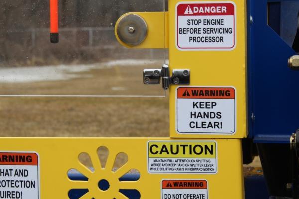 Heavier Gauge Safety Guards - SC-16 FIREWOOD PROCESSOR