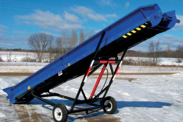 Blue DYNA Conveyor side view.